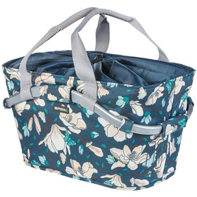 Basil Magnolia Design Hinterradkorb 22l mit MIK Adapterplatte teal blue